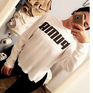 PUMA white, lightweight hoodie